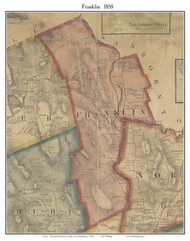 Franklin, New Hampshire 1858 Old Town Map Custom Print - Merrimack Co.