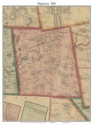 Hopkinton, New Hampshire 1858 Old Town Map Custom Print - Merrimack Co.