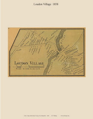 Loudon Village, New Hampshire 1858 Old Town Map Custom Print - Merrimack Co.