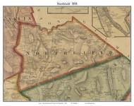 Northfield, New Hampshire 1858 Old Town Map Custom Print - Merrimack Co.