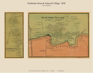 Pembroke Street and Suncook Villages, New Hampshire 1858 Old Town Map Custom Print - Merrimack Co.
