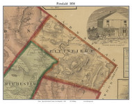 Pittsfield, New Hampshire 1858 Old Town Map Custom Print - Merrimack Co.