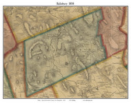 Salisbury, New Hampshire 1858 Old Town Map Custom Print - Merrimack Co.