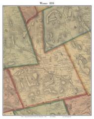 Warner, New Hampshire 1858 Old Town Map Custom Print - Merrimack Co.