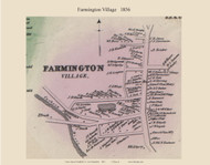 Farmington Village, New Hampshire 1856 Old Town Map Custom Print - Strafford Co.