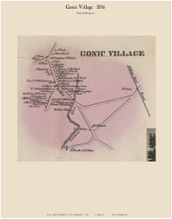 Gonic Village - Rochester, New Hampshire 1856 Old Town Map Custom Print - Strafford Co.