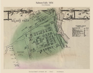 Salmon Falls Village - Rollinsford, New Hampshire 1856 Old Town Map Custom Print - Strafford Co.
