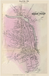 Great Falls Village - Somersworth, New Hampshire 1856 Old Town Map Custom Print - Strafford Co.