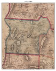Cornish, New Hampshire 1860 Old Town Map Custom Print - Sullivan Co.