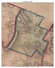 Grantham, New Hampshire 1860 Old Town Map Custom Print - Sullivan Co.