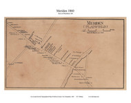 Meriden Village - Plainfield, New Hampshire 1860 Old Town Map Custom Print - Sullivan Co.