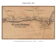 Sunapee Harbor, New Hampshire 1860 Old Town Map Custom Print - Sullivan Co.