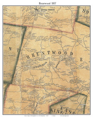 Brentwood, New Hampshire 1857 Old Town Map Custom Print - Rockingham Co.