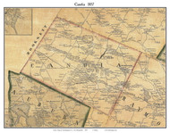 Candia, New Hampshire 1857 Old Town Map Custom Print - Rockingham Co.