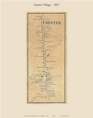 Chester Village, New Hampshire 1857 Old Town Map Custom Print - Rockingham Co.