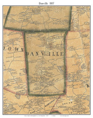 Danville, New Hampshire 1857 Old Town Map Custom Print - Rockingham Co.