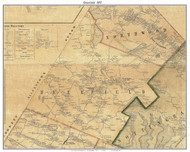 Deerfield, New Hampshire 1857 Old Town Map Custom Print - Rockingham Co.