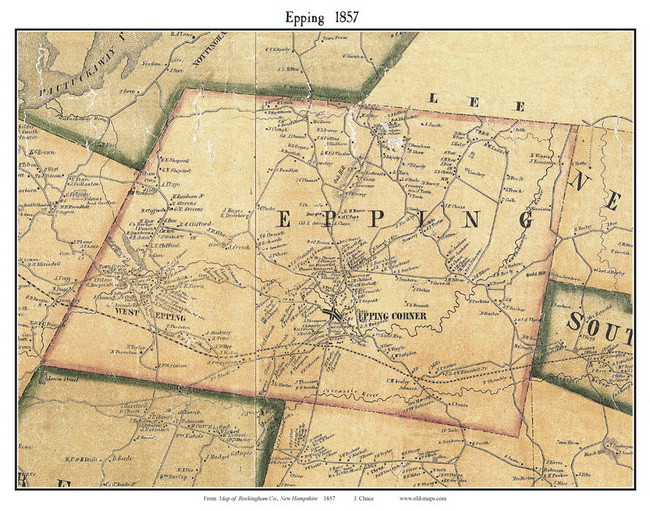 Topographical Map Of Epping Nh on