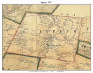 Epping, New Hampshire 1857 Old Town Map Custom Print - Rockingham Co.