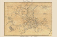 Exeter Village, New Hampshire 1857 Old Town Map Custom Print - Rockingham Co.