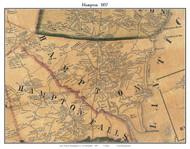 Hampton, New Hampshire 1857 Old Town Map Custom Print - Rockingham Co.
