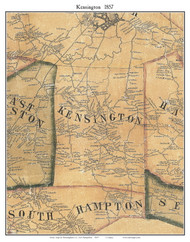 Kensington, New Hampshire 1857 Old Town Map Custom Print - Rockingham Co.