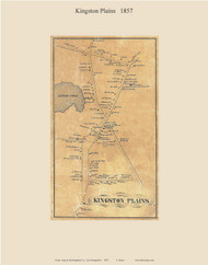 Kingston Plains, New Hampshire 1857 Old Town Map Custom Print - Rockingham Co.