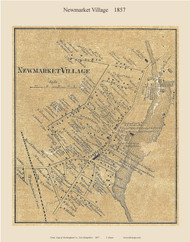 Newmarket Village, New Hampshire 1857 Old Town Map Custom Print - Rockingham Co.