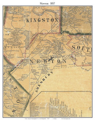 Newton, New Hampshire 1857 Old Town Map Custom Print - Rockingham Co.