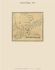 Newton Village, New Hampshire 1857 Old Town Map Custom Print - Rockingham Co.