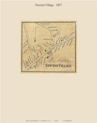 Newton Village, New Hampshire 1857 Old Town Map Custom Print - Rockingham Co.