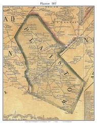 Plaistow, New Hampshire 1857 Old Town Map Custom Print - Rockingham Co.