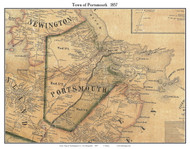 Portsmouth, New Hampshire 1857 Old Town Map Custom Print - Rockingham Co.