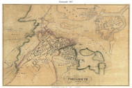 Portsmouth City, New Hampshire 1857 Old Town Map Custom Print - Rockingham Co.