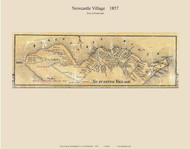 Newcastle Village, New Hampshire 1857 Old Town Map Custom Print - Rockingham Co.