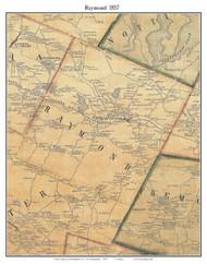 Raymond, New Hampshire 1857 Old Town Map Custom Print - Rockingham Co.