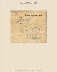 Raymond Village, New Hampshire 1857 Old Town Map Custom Print - Rockingham Co.