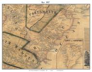 Rye, New Hampshire 1857 Old Town Map Custom Print - Rockingham Co.