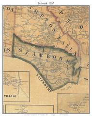 Seabrook, New Hampshire 1857 Old Town Map Custom Print - Rockingham Co.