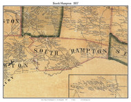South Hampton, New Hampshire 1857 Old Town Map Custom Print - Rockingham Co.