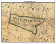 South Newmarket, New Hampshire 1857 Old Town Map Custom Print - Rockingham Co.