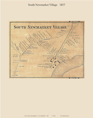 South Newmarket Village, New Hampshire 1857 Old Town Map Custom Print - Rockingham Co.
