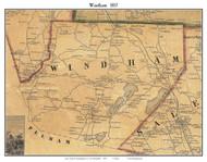 Windham, New Hampshire 1857 Old Town Map Custom Print - Rockingham Co.