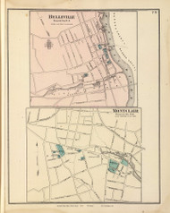Belleville Village and Montclair Village, New Jersey 1872 Old Town Map Reprint - State Atlas