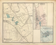 Lambertville, City of Dover, and Bloomfield Village, New Jersey 1872 Old Town Map Reprint - State Atlas
