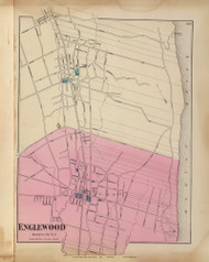 Englewood, New Jersey 1872 Old Town Map Reprint - State Atlas
