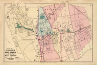 East Orange (plan), Llewellyn Park, and part of West Orange, New Jersey 1872 Old Town Map Reprint - State Atlas