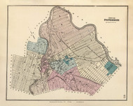 Patterson City, New Jersey 1872 Old Town Map Reprint - State Atlas