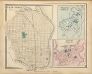 Perth Amboy, Matawan, and Keyport, New Jersey 1872 Old Town Map Reprint - State Atlas