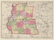 Cheshire County, New Hampshire 1877 Old Map Reprint - Comstock & Cline State Atlas